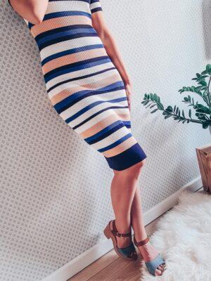 Knielange streepjes jurk