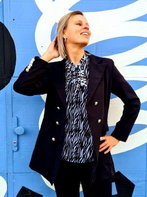 Luxe lange blazer