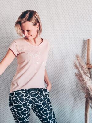 Basic t-shirt ciao ciao roze