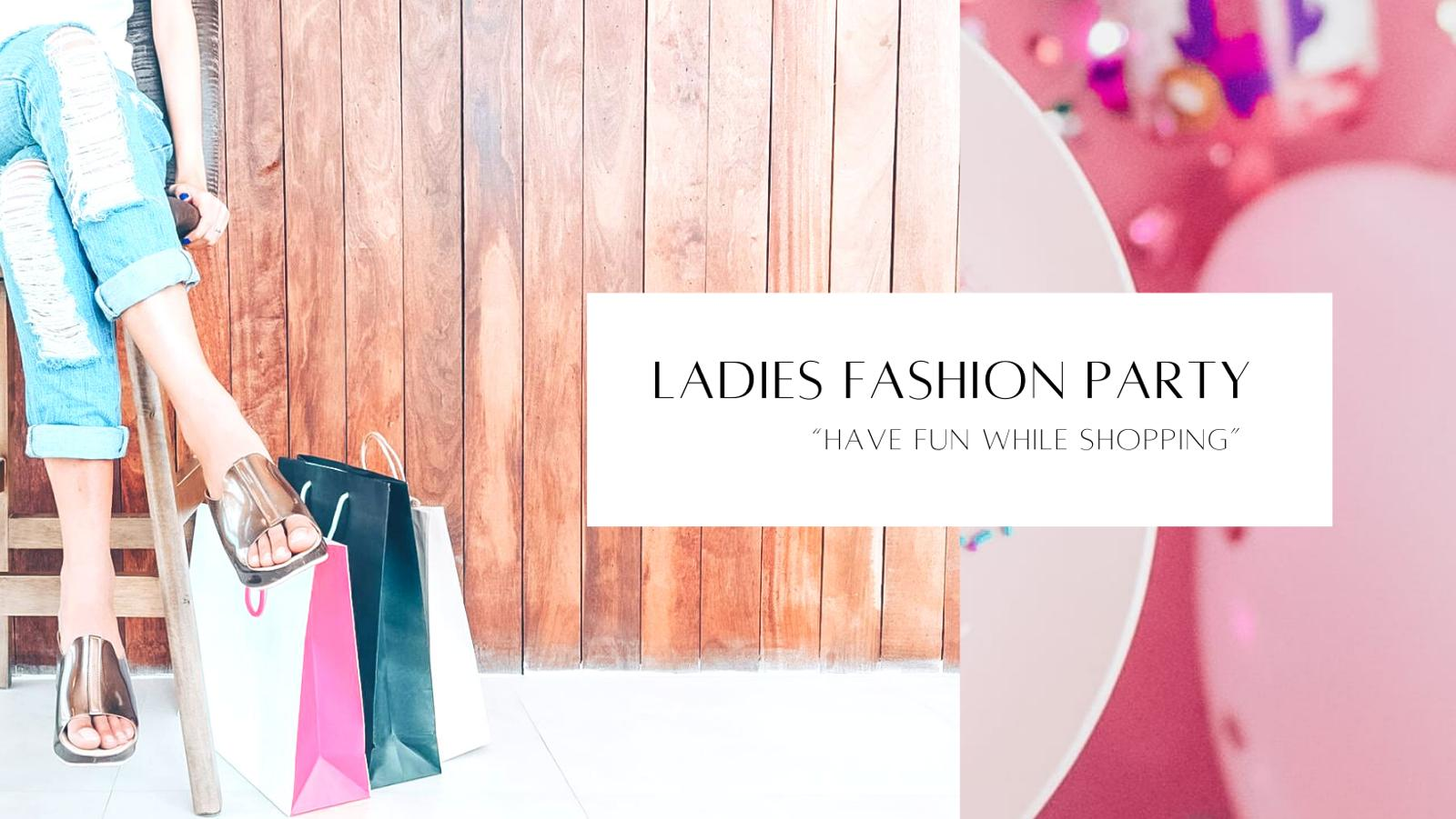 Banner ladies fashion party